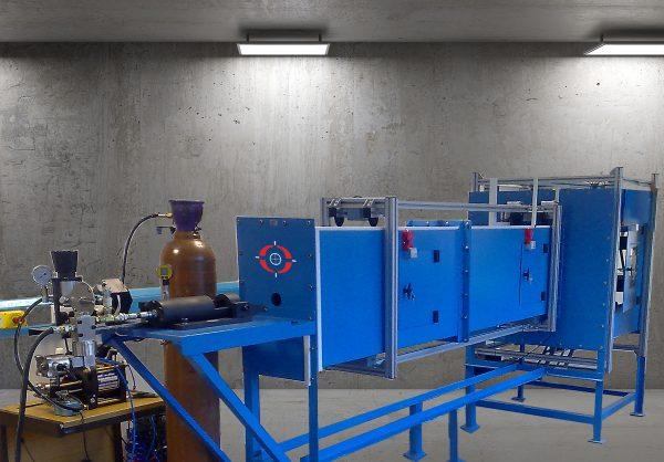 Gas Gun Testing Chamber
